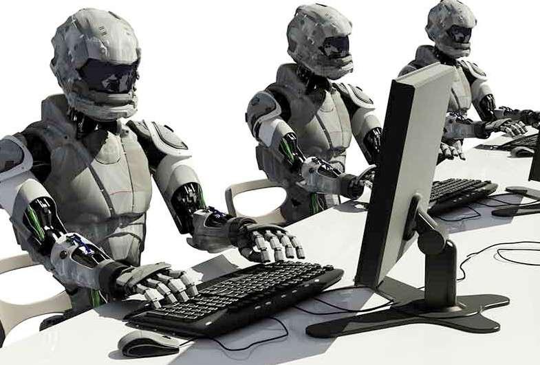 Роботы за компом