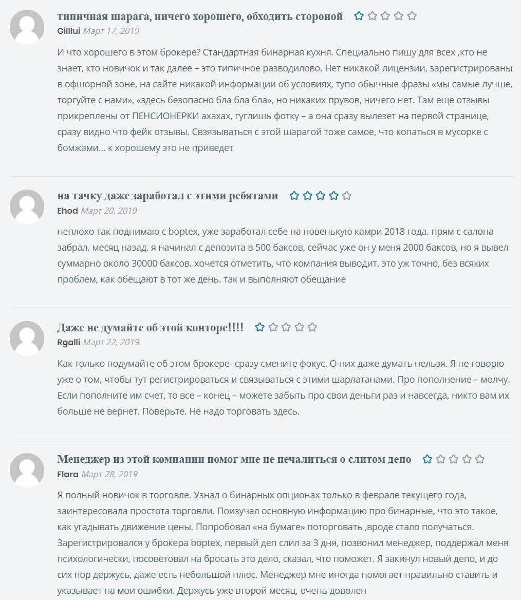 Boptex - отзывы и правда о брокере - очередной развод и лохотрон!