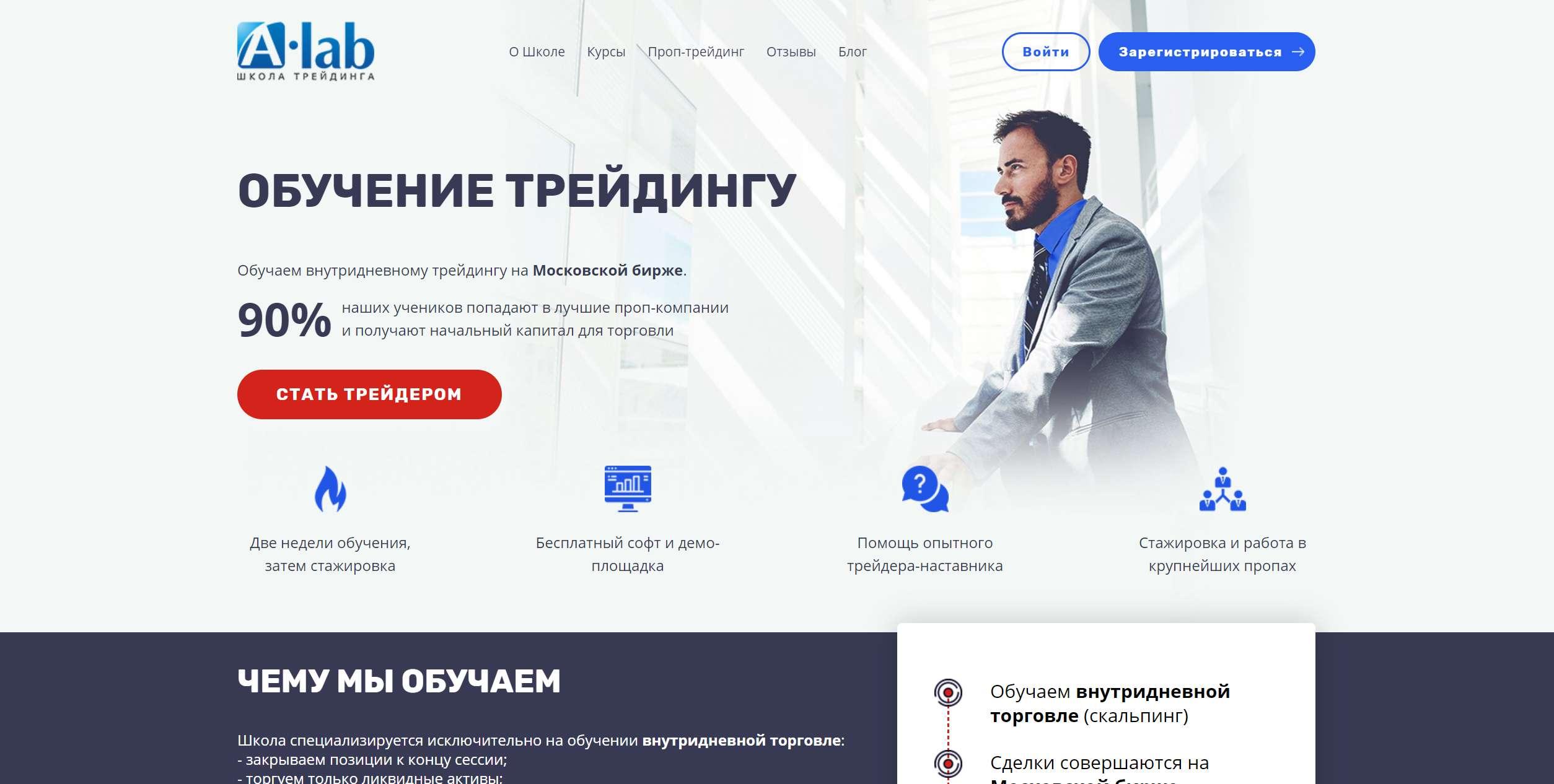 Обзор A-lab.ru Мнение о школе трейдинга.
