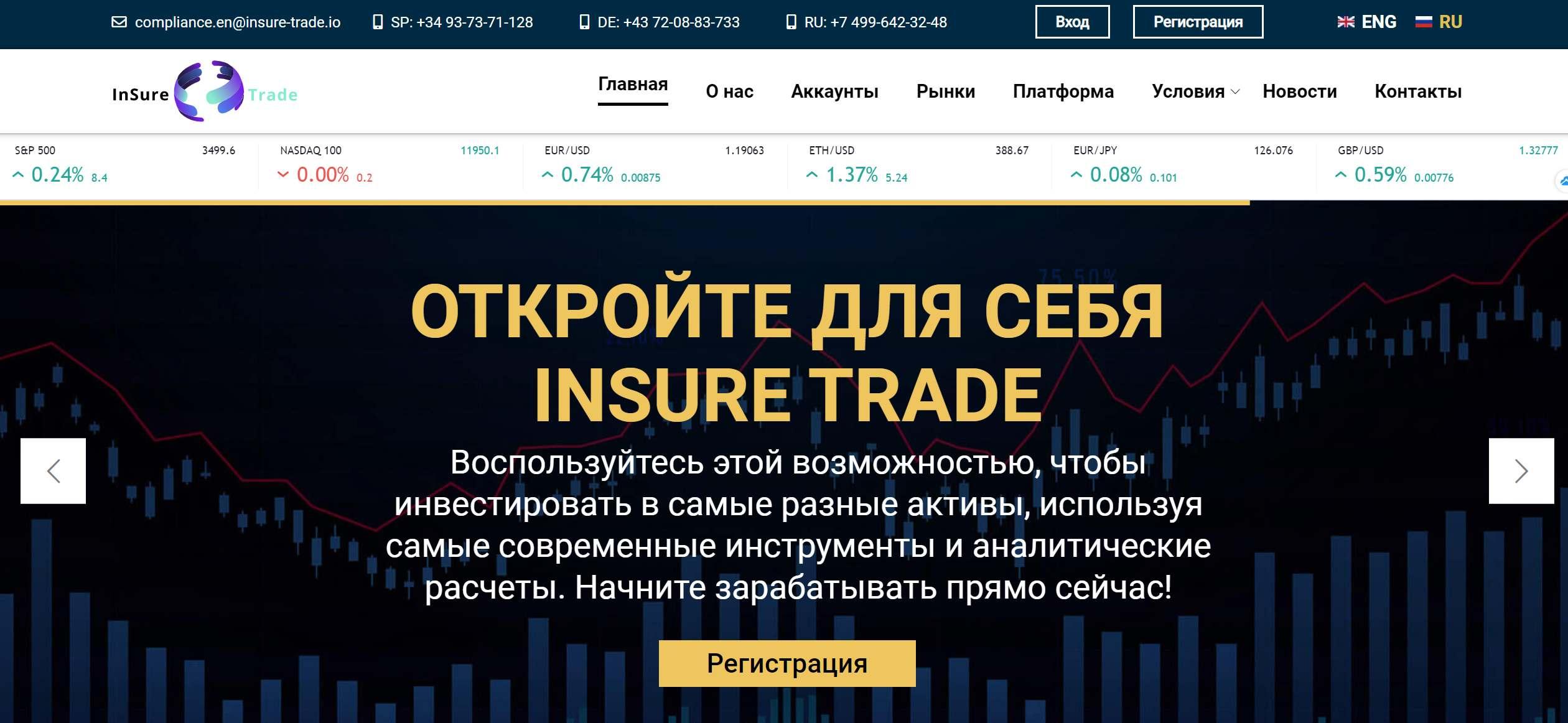 Отзывы о брокере InSure Trade. Предполагаемый мошенник или нет?