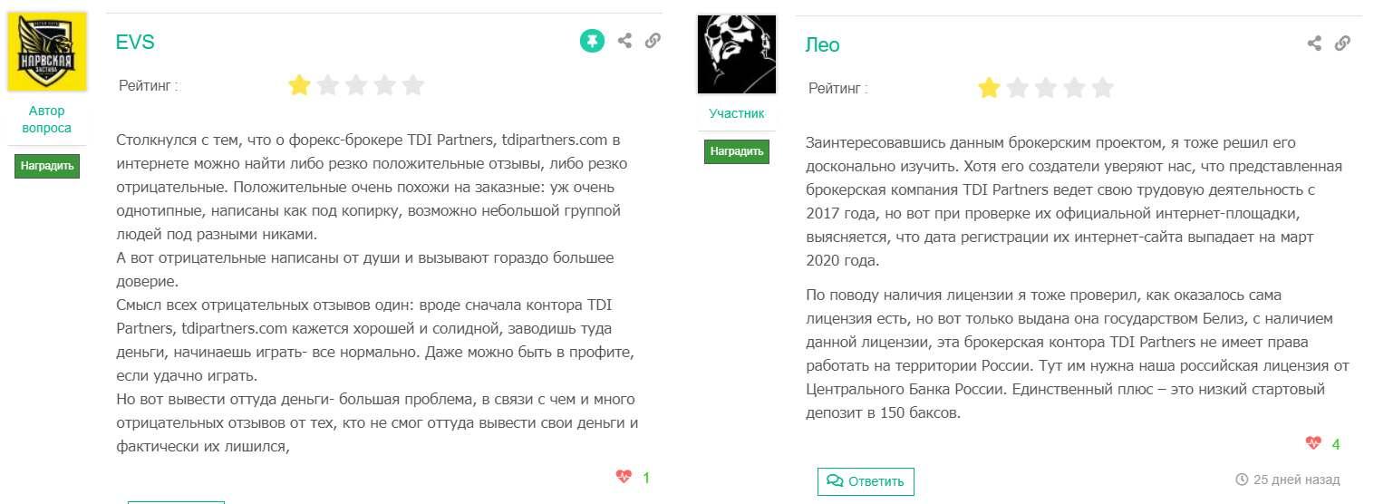 Обзор и отзывы на TDI Partners. Реинкарнация старого домена на новый лохотрон?