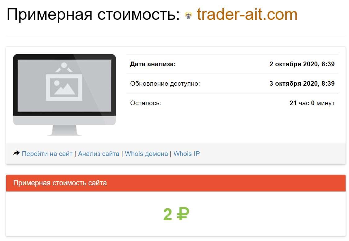 Отзывы и обзор - Trader-ait.com - Ассоциация Независимых Трейдеров. Можно доверять?