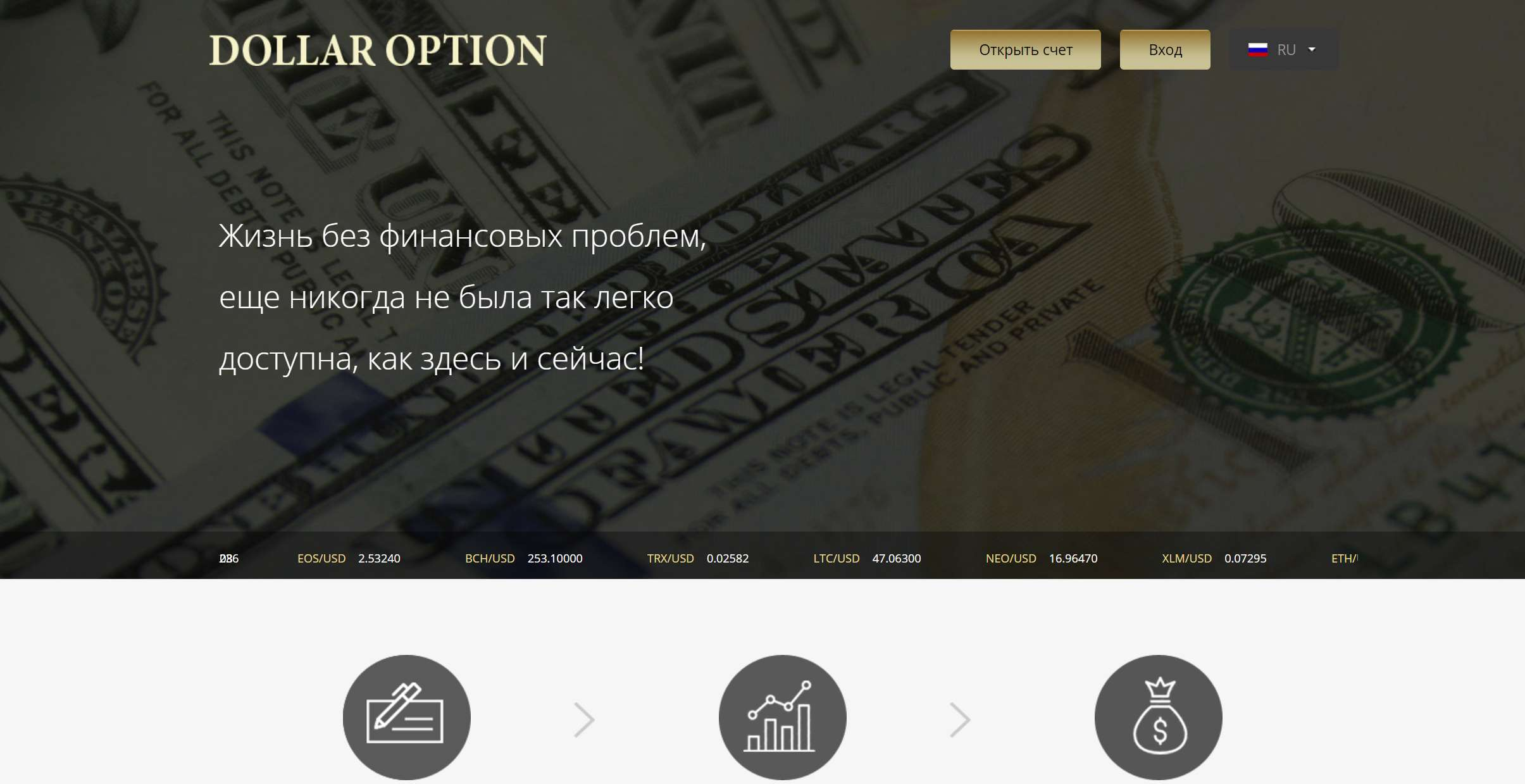 Обзор Dollar Option. Клон - лохотрон! очередной сайт мошенников, отзывы и обзор.