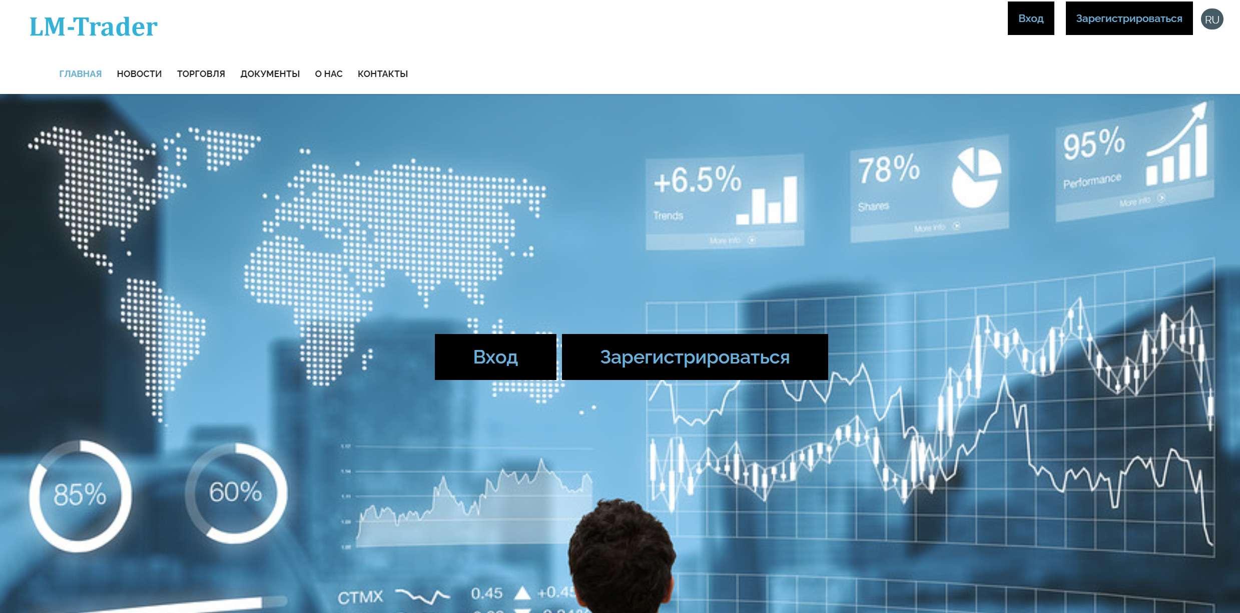 LM Trader — очередной лохотрон на финансовом рынке. Отзывы и обзор.