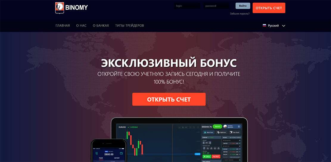 Является ли мошенником брокерская компания Binomy (binomy.net). Отзывы и обзор разводил.