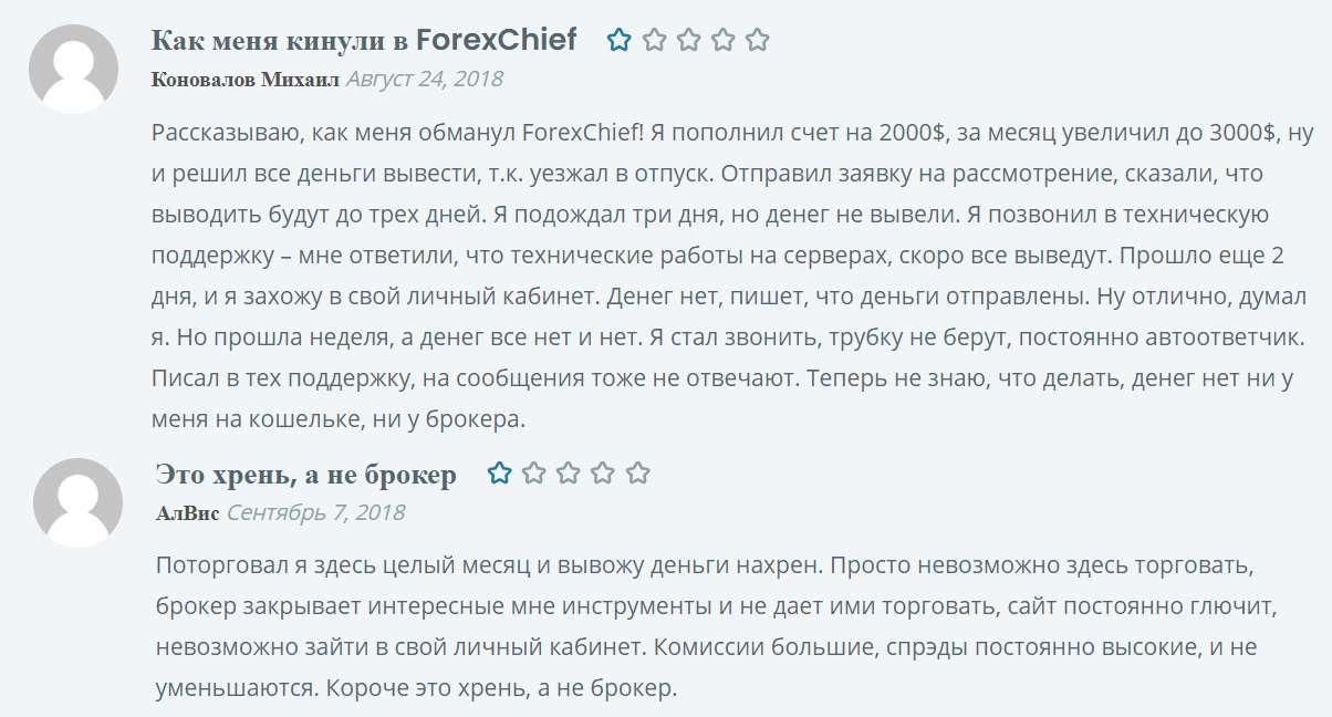 Обзор брокера Forex Chief. Старый проект с можно ли доверять? Мнение и отзывы.