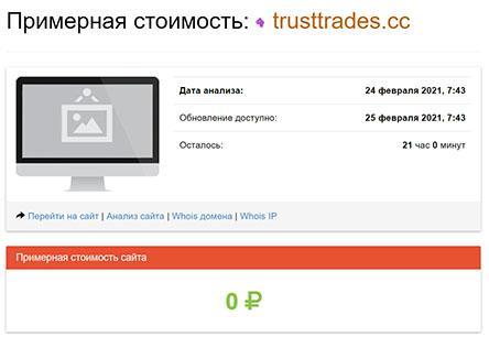 trusttrades.cc – очередной отъём денег! банальный ХАЙП и развод!