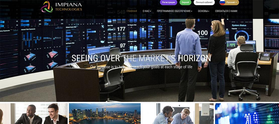 Обзор лживого брокера Impiana Technologies. Отзывы на опасный проект.