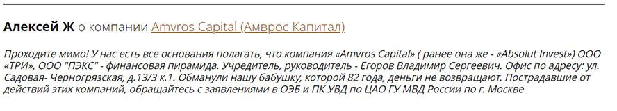 Инвестиционный проект Amvros Capital. Полный обзор, с ответом на вопрос – Стоит ли им доверять?
