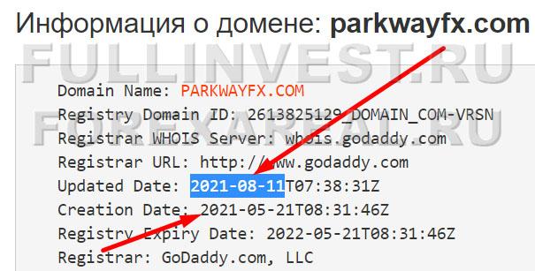 Forex-мошенники Parkway FX Limited? Очередной заморский лохотрон?