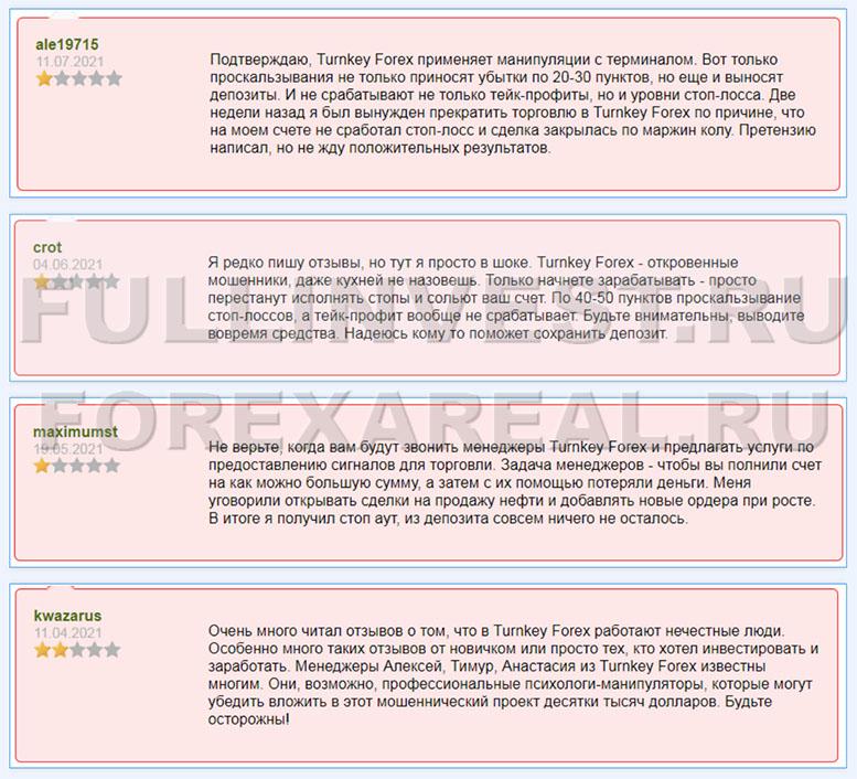 Turnkey Forex. Обзор брокера которому опасно доверять? Отзывы.